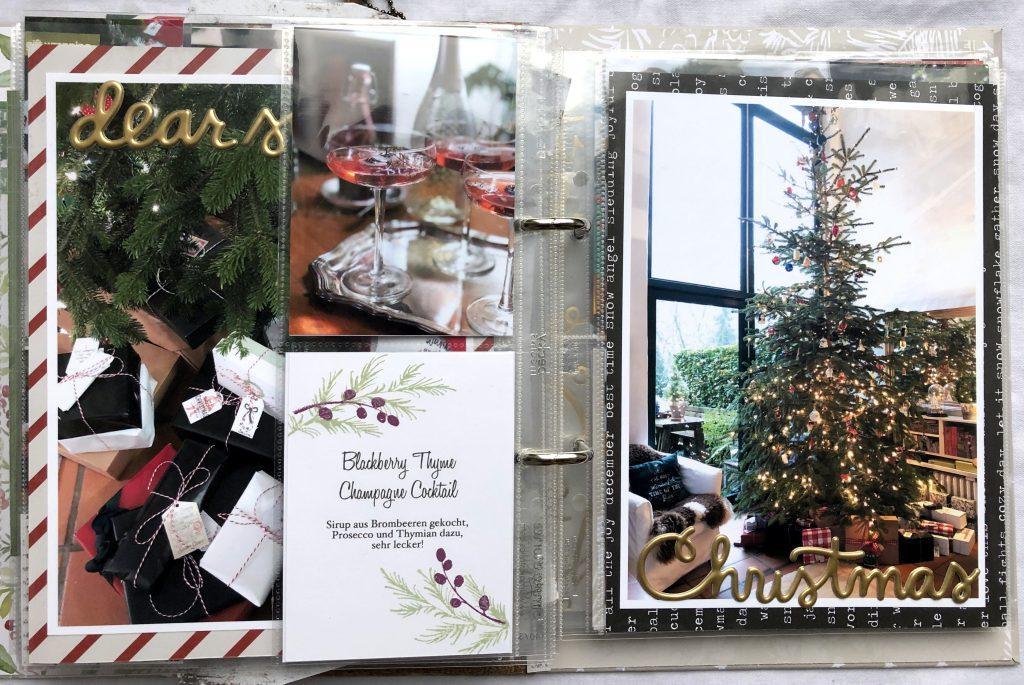 Dezembertagebuch 2019 Textkarte drucken und stempeln