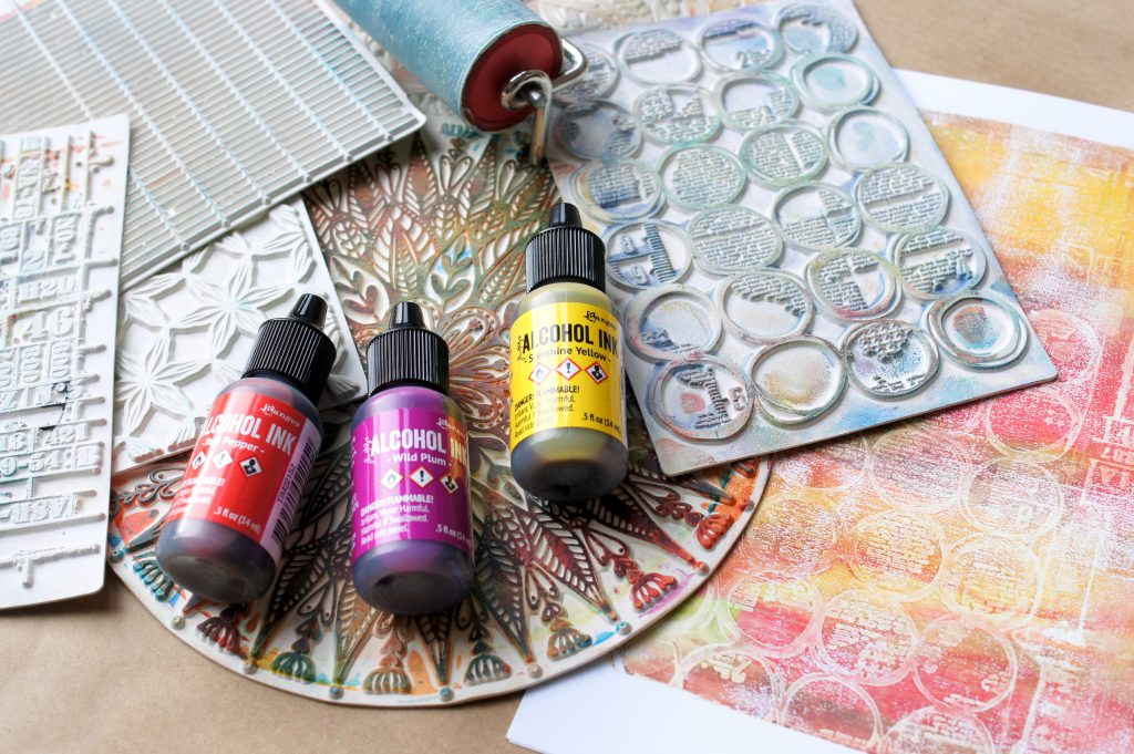 Carabelle Studio Texture Plates für Gel Press Mixed Media Layouts
