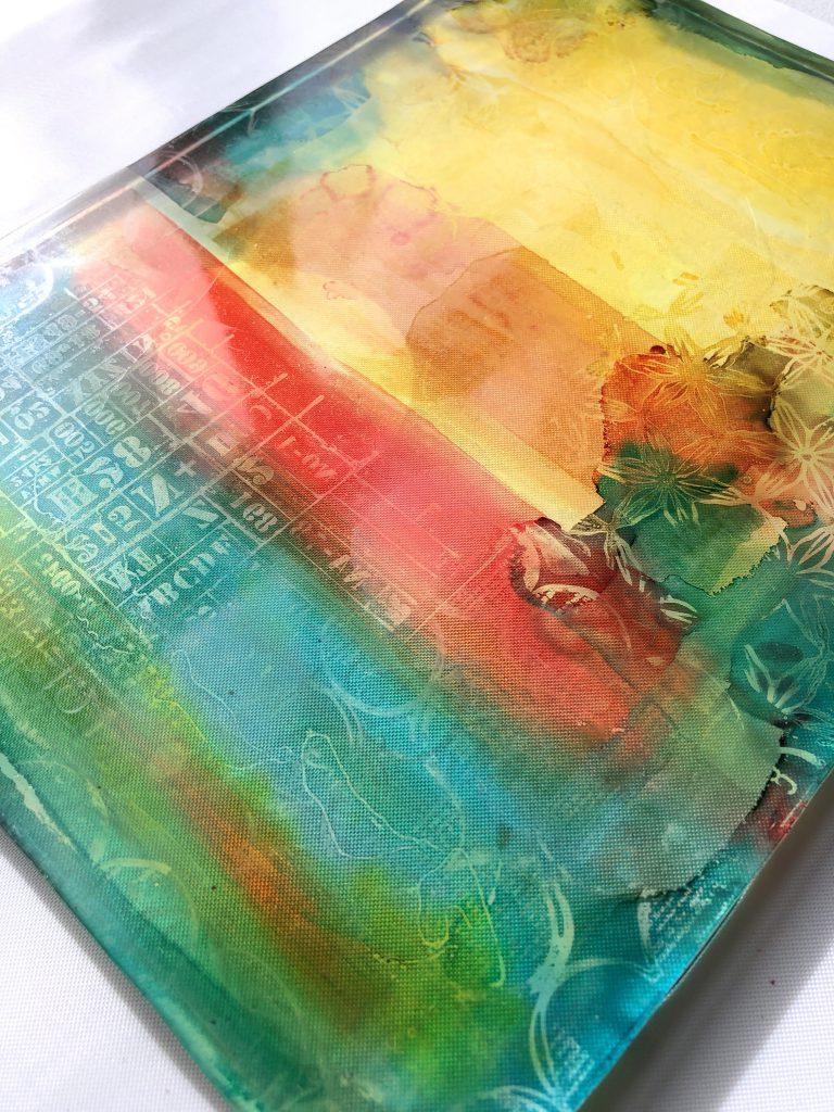 Anleitung Gelpress Druck mit Alcohol Inks