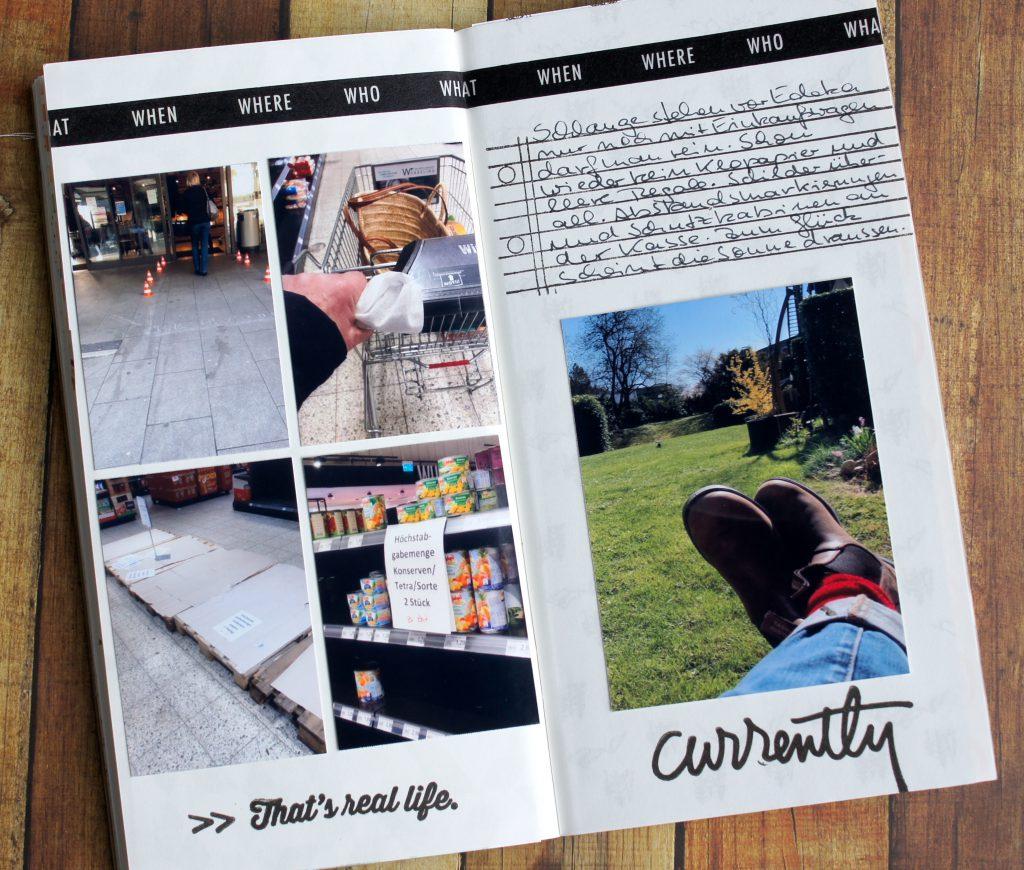 Corona Tagebuch im Travelers Notebook Woche 2