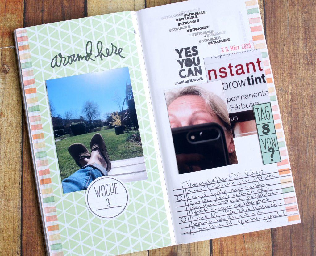 Corona Tagebuch Travelers Notebook Woche zwei