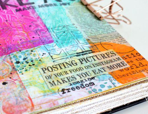 Art Journal Ranger Gel Press Collage
