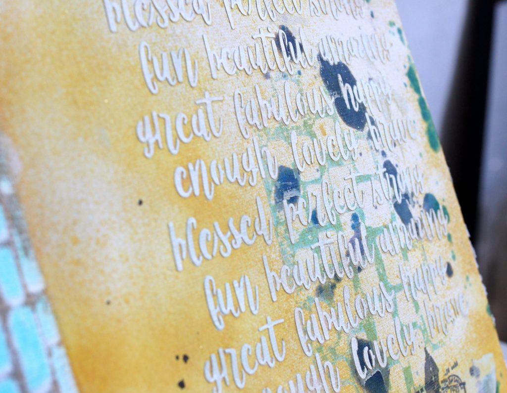 Art Journal Dina Wakley Strukturpaste