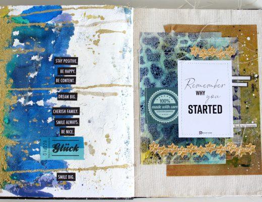Art Journal Grit Paste Alcohol Inks