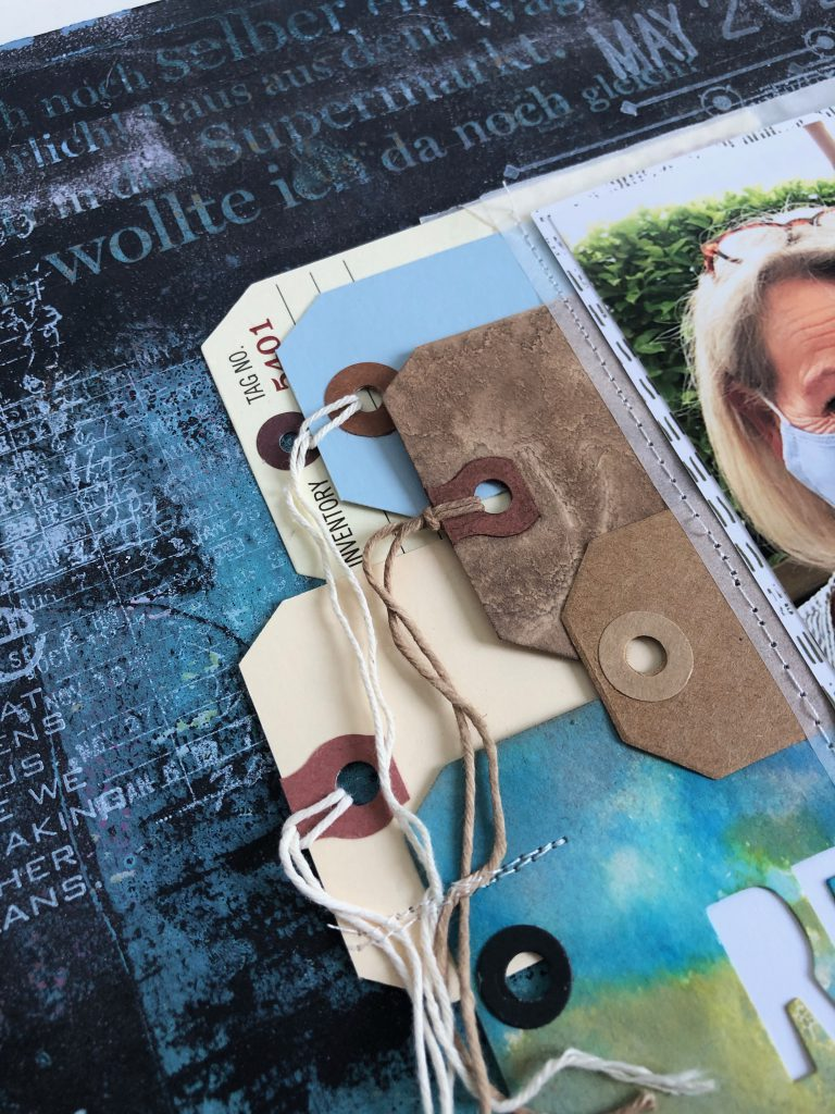 Scrapbooking Layout mit Tags