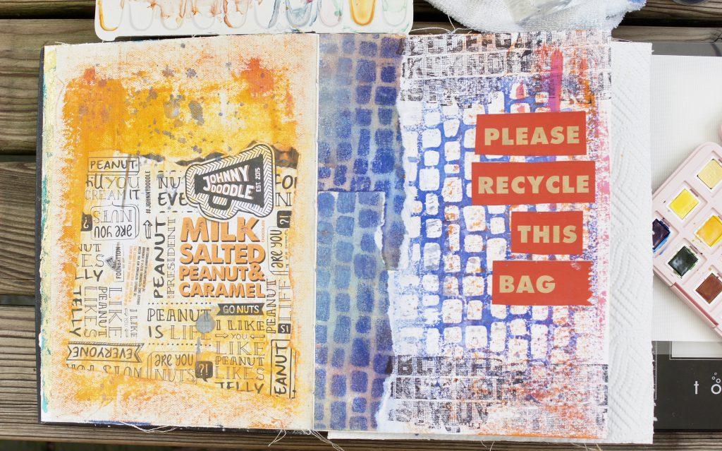 Art Journal Collage Schablone
