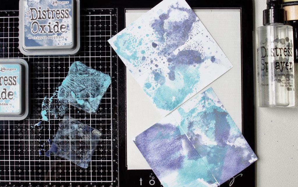 Tim Holtz Glass Media Mat Unterschied selbstklebend Oxide Ink