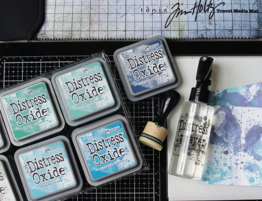 Tim Holtz Glass Media Mat mit Oxide Ink