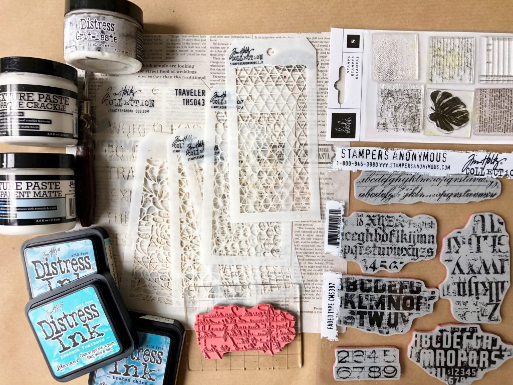 Mixed Media Workshop Pasten, Schablonen und Stempel