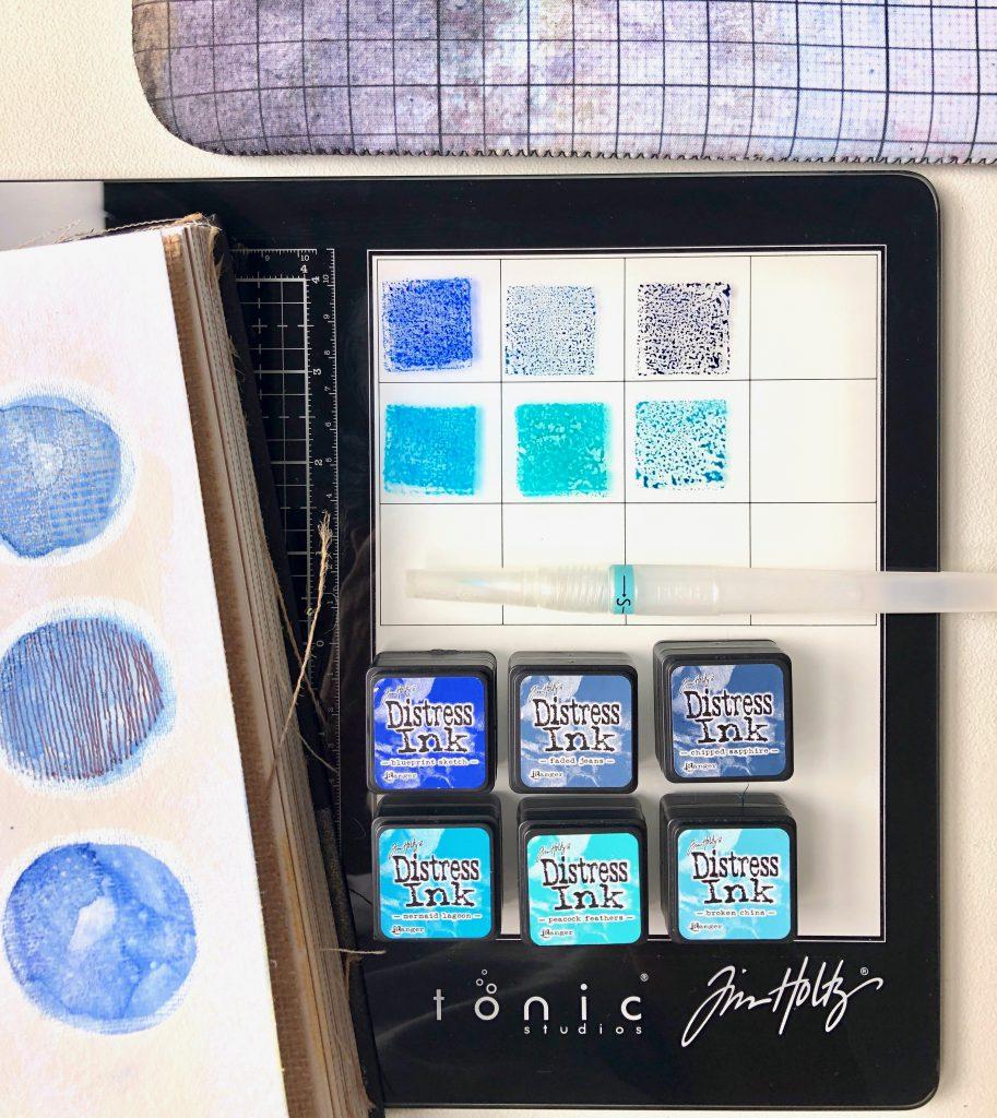 Tim Holtz Glass Media Mat weiße Seite für Aquarell