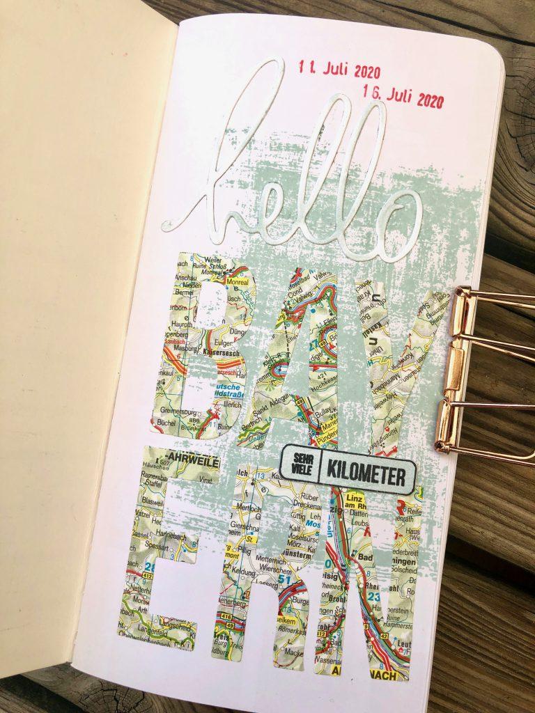 Einfaches Tavel Journal mit Instax Fotos Seite 1