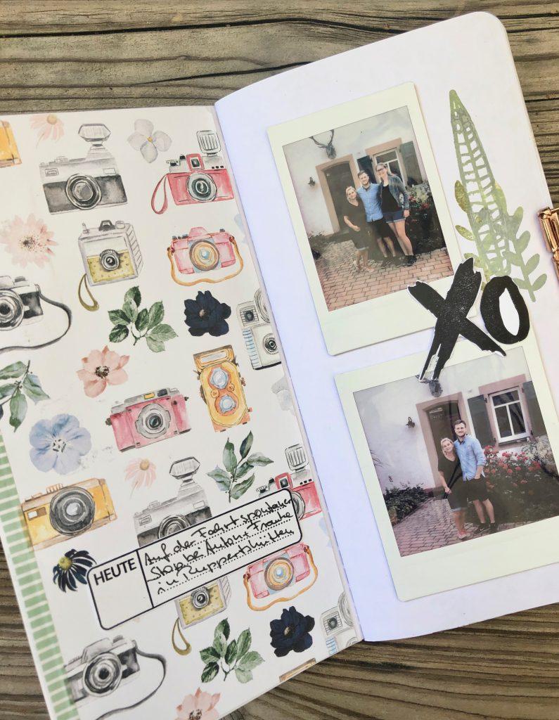 Einfaches Tavel Journal mit Instax Fotos Seite 2