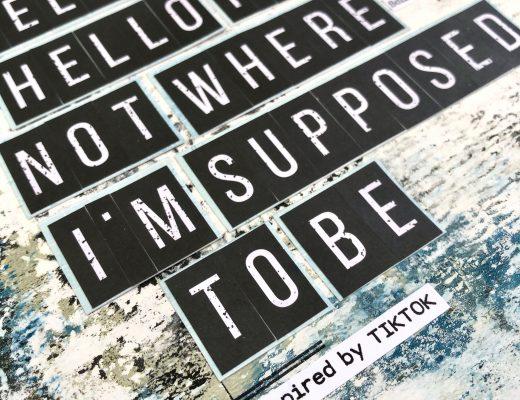 Scrapbooking Layout Gelpress Hintergrund TikTok Titel