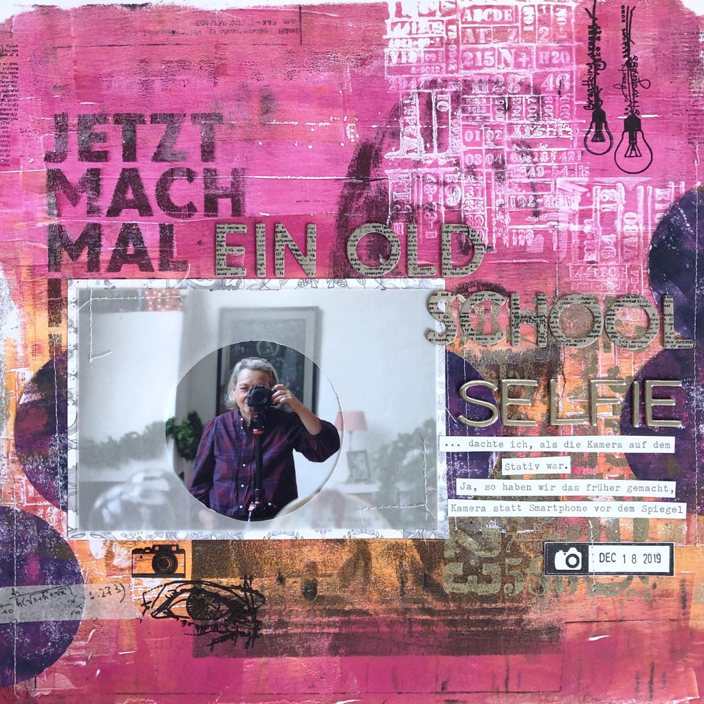 Scrapbooking Layout Gel Press und Minc Toner Ink