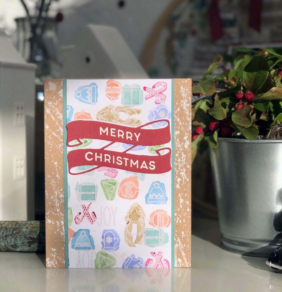 Weihnachtskarte 2020 Aquarell Concord & 9th Christmas Cheer