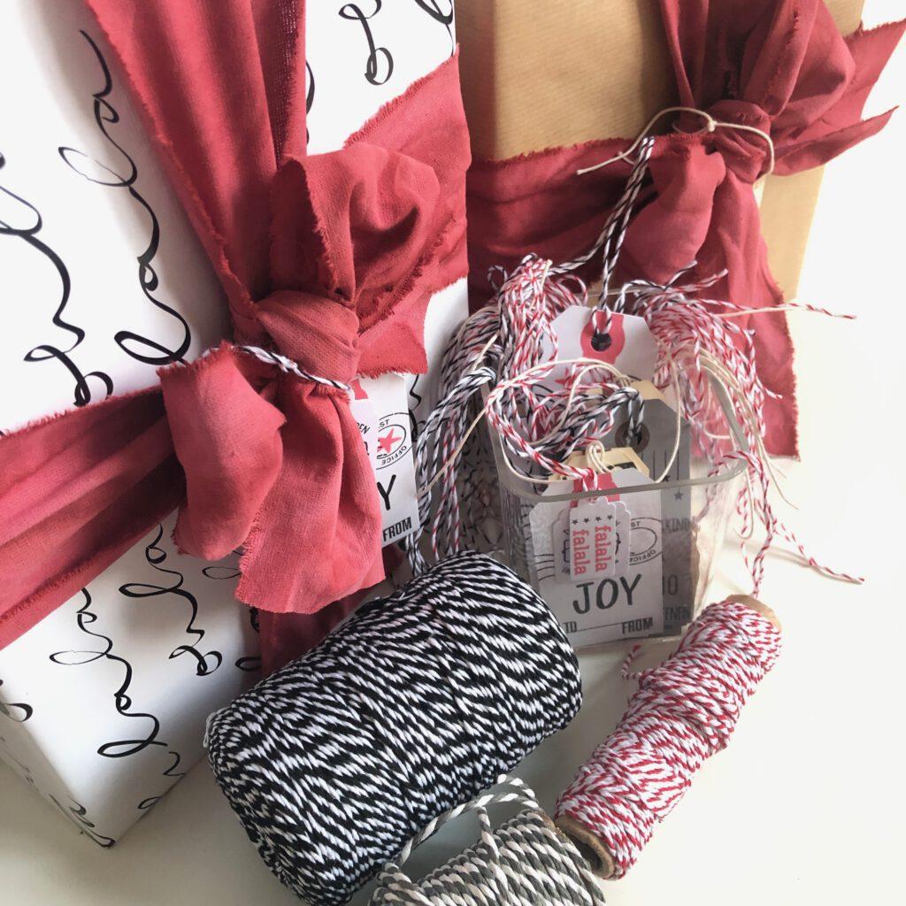 umweltfreundlich Geschenke verpacken mit nachhaltigen Bändern