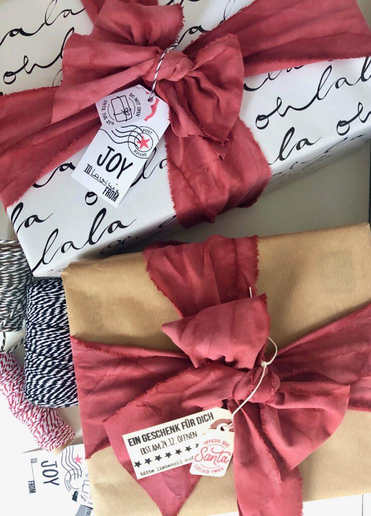 Weihnachtsgeschenke Bänder selbermachen