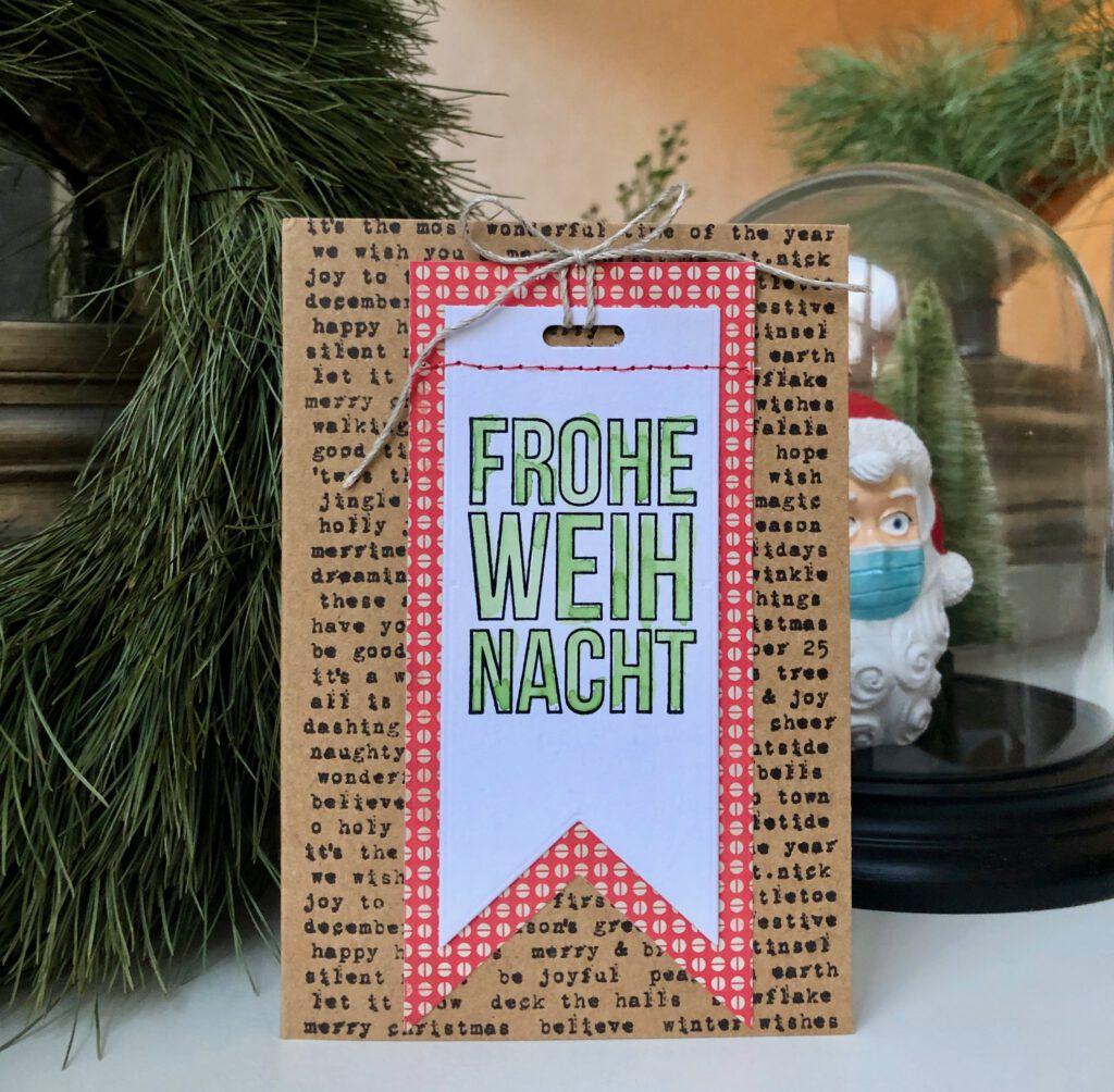Weihnachtskarte 2020 mit Klartext Stempeln