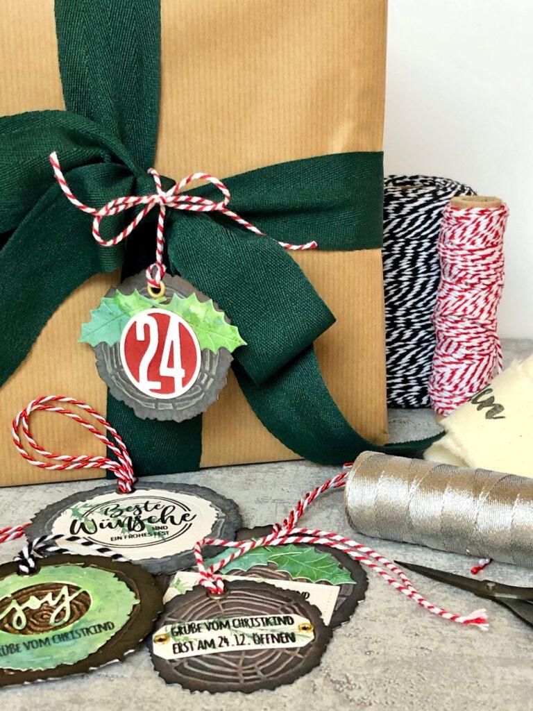Weihnachten Geschenkanhänger Holzfäller Art