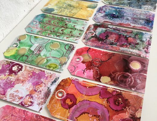 Gelpress Mixed Media Tags