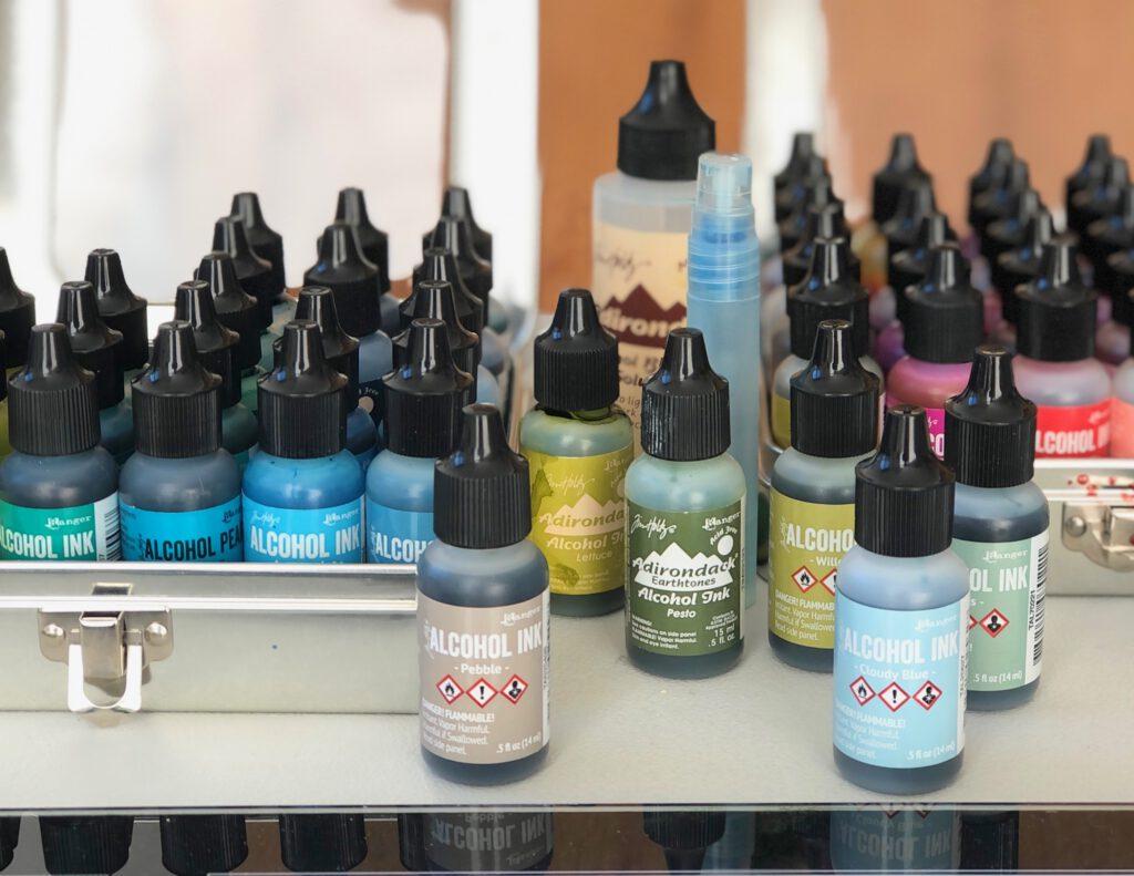 Alcohol Inks mit Gelpress verwenden