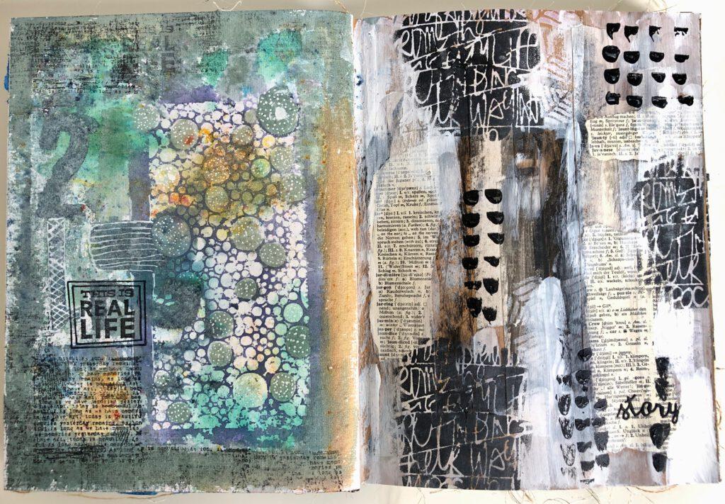 Art Journal Stencil Print