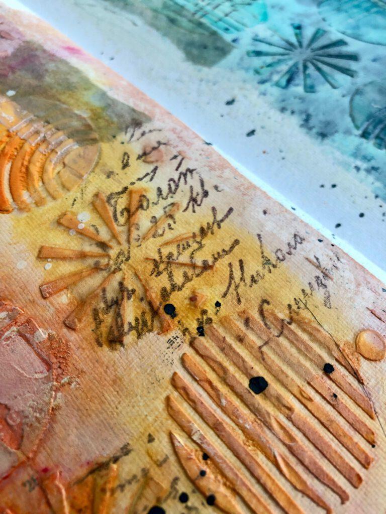 Art Journal Teebeutel bedrucken für Collage