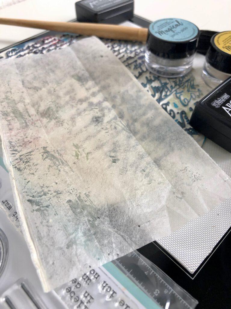 Teebeutel bedrucken für Collage