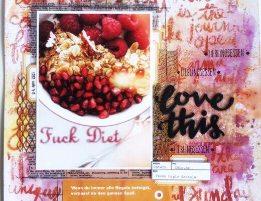 Mixed Media Scrapbooking Layout Granola