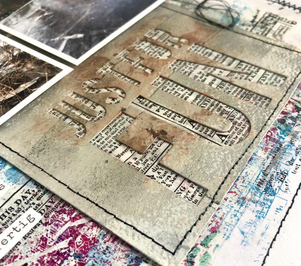 Mixed Media Scrapbooking Layout mit Transparentpapier