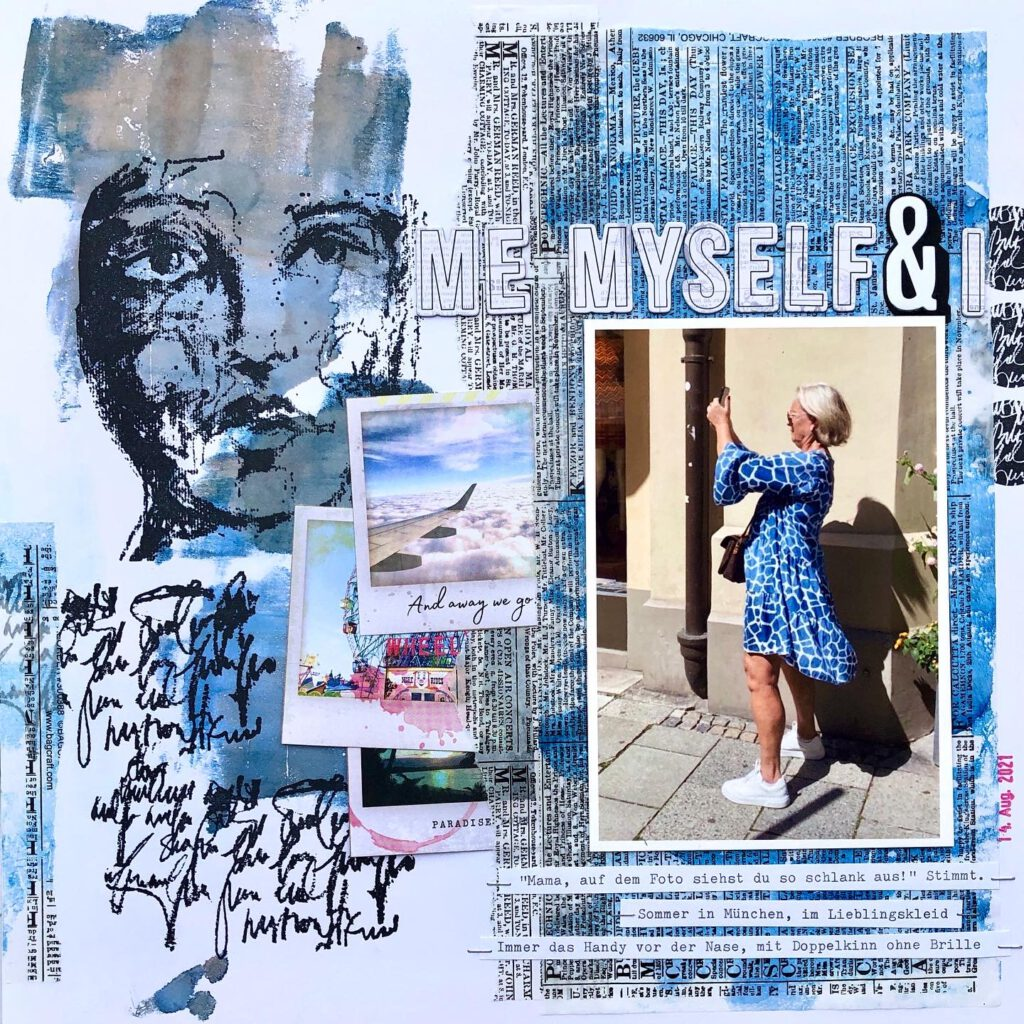 Mixed Media Scrapbooking Layout Alcohol Ink