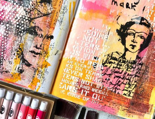 Art Journal Acrylfarben Sostrene Greene