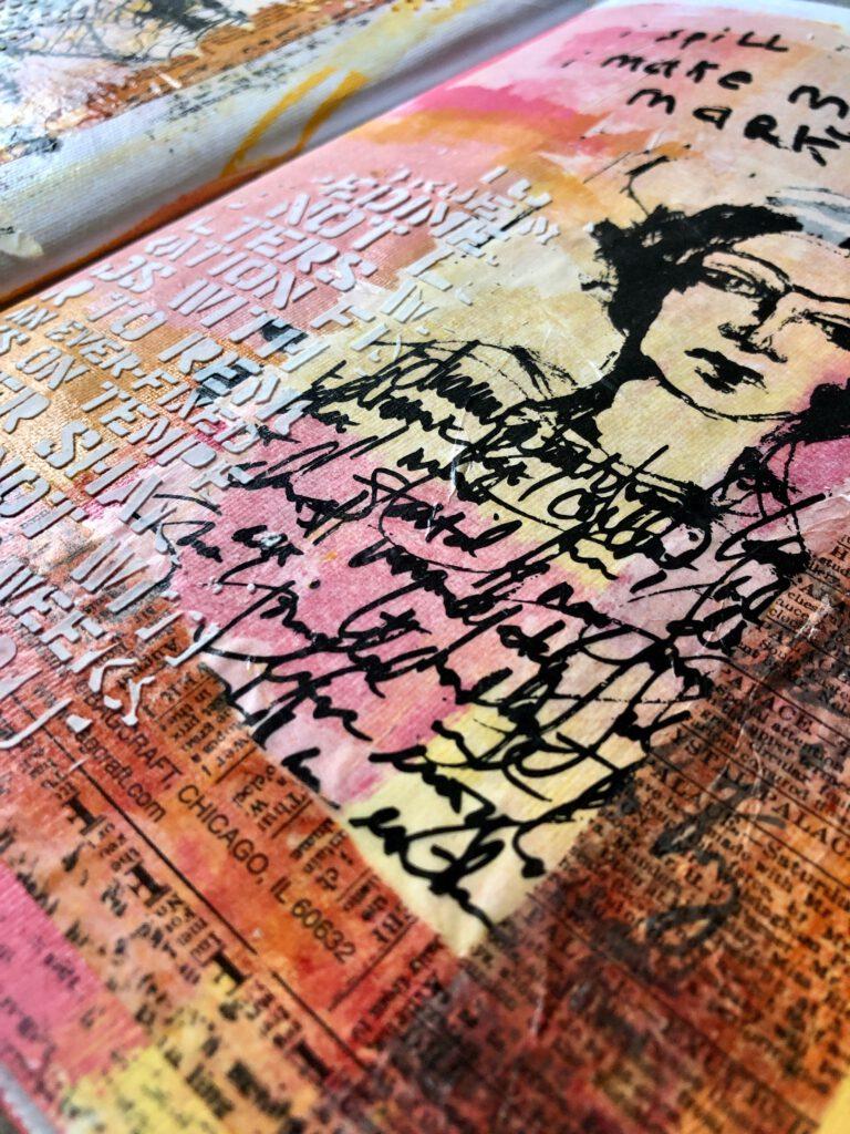 Art Journal Seite Acrylfarben Sostrene Greene