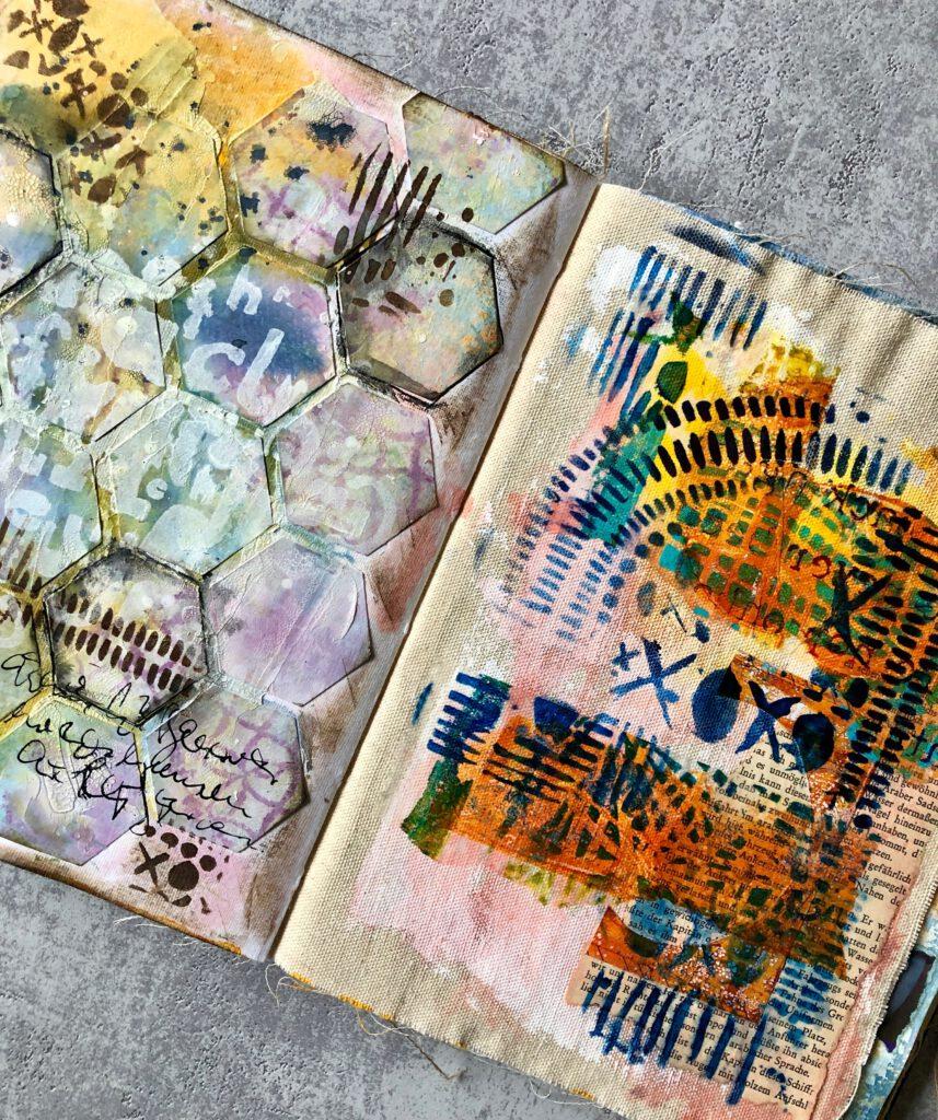 Art Journal Seiten Ranger Dina Wakley